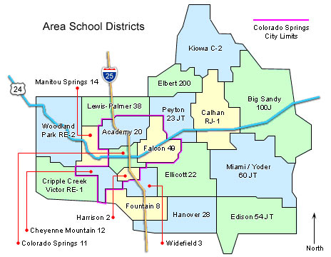 School District Maps - Colorado Springs, Colorado El Paso ...
